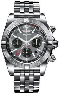 4423e4a8bf5 Breitling Watch Chronomat 44 GMT Blackeye Gray AB042011 F561 375A Watch