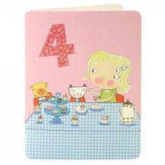 Girl Age Four Card