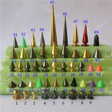 NO.19,18,20 8X7.5mm colourful cone screw spikes