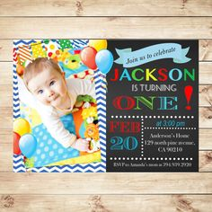 St Birthday Invitation Boys Digital File I Customise For You - Email invitation for first birthday party