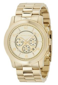 Michael Kors MK8077 Gold-Tone Men's Watch - Day or night, this chronograph makes a strong statement in gold-tone stainless steel. -- http://newtimepieces.com/michael-kors-mk8077-gold-tone-mens-watch/