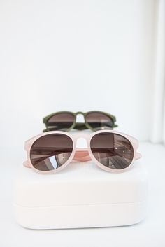 """Paris"" Sunglasses in Rose and Olive #ANINEBING"