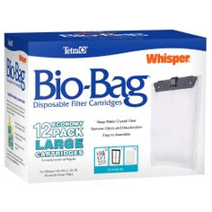 New Tetra 26164 Whisper Bio-Bag Cartridge, Unassembled, Large, 12-Pack #Tetra