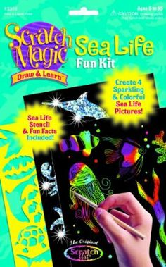 Scratch Magic Sea Life Learn World Pictures Drawing Activity Stencil Art Fun Kit Fun Arts And Crafts, Arts And Crafts Supplies, World Pictures, Pictures To Draw, Drawing Stylus, Art Kits For Kids, Scratchboard Art, Drawing Activities, Scratch Art
