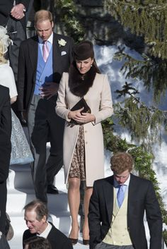 Kate Middleton wearing a Fox Collar - We have these in available in various colors at Elegant Furs - They can also be worn as headbands
