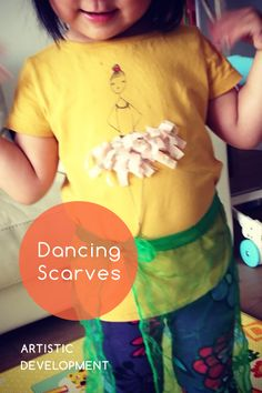 Knoala Early Preschooler Activity: 'Dancing Scarves' helps little ones develop Artistic and Motor skills. #Knoala #KidsActivities *What an great collection of no-prep activities for kids!