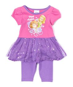 Another great find on #zulily! Sofia the First Duo Dress & Leggings - Infant, Toddler & Girls #zulilyfinds