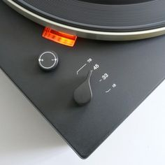 detail of the braun ps 500 turntable, designed by dieter rams in 1968.