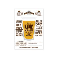 PRINTABLE Beer Tasting Party invitation