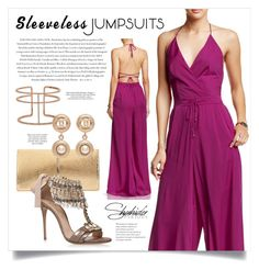 """Backless Palazzo Jumpsuit in Purple - Shahida Parides 2015"" by boxthoughts ❤ liked on Polyvore featuring Nina Ricci, APM Monaco, Casadei, Chanel, Envi and ShahidaParides"