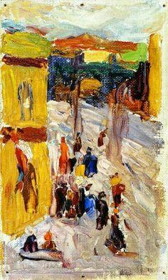 'Street Corner' - Wassily Kandinsky - (1903)
