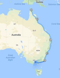 The plan is to ride from Melbourne up to Cape York