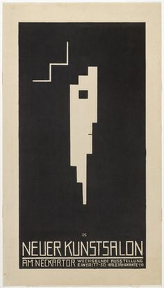 Poster for the Neuer Kunstsalon, Stuttgart (Plakat, Neuer Kunstsalon, Stuttgart) Oskar Schlemmer (German, 1888–1943)