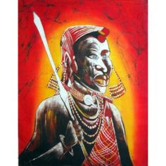 """Masaai Warrior"" is an amazing African Wall Art for all the art lovers who are willing to extant their art gallery this Christmas. Free shipping worldwide. The painting is in stock, so place your order online ASAP  #africanart #African #painting #walldecor #Christmasgifts #art"