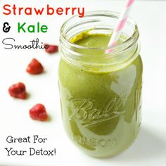 Strawberry and Kale Smoothie | Jessiker Bakes My little sis LOVES to make smoothies, so this is for her. ;)