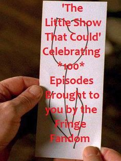 Can't believe our 'little' show made it this far! THANK YOU FRINGIES 4 YOUR SUPPORT!! 'Fringe TV Series' (created by GodsGirl1989)