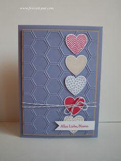 Stampin Up! Hearts a Flutter, Honigwaben, Muttertag, Herzen