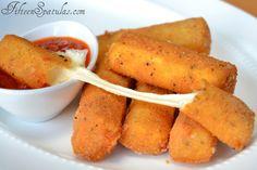 HOmemade Mozzarella Sticks   by Fifteen Spatulas