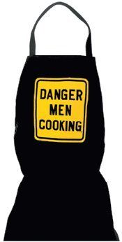 FREE UK DELIVERY.Now you can warn people - Danger! Men Cooking ApronAre you one, or do you know one of those people who simply burn everything they try and cook? know somebody who could burn a salad? Well if so this funny and stylish Danger Men Cooking Apron will be just perfect. The Apron is black with this Danger Men Cooking Apron slogan emblazed across the front of the apron in yellow.Danger Men Cooking Novelty Apron Details: This cool and funny Danger Men Cooking Apron is great for…