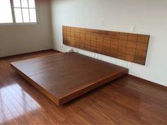cabecera y base de cama de nogal king size