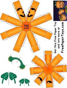 #FREE Paper Model Halloween Pumpkin