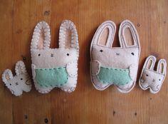 DIY bunny with a baby