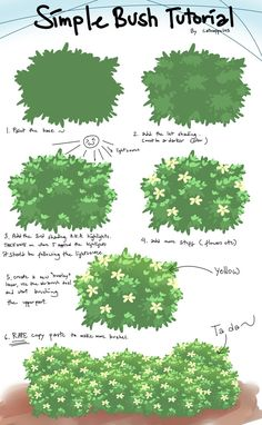 Bush tutorial by catnappe143 on deviantART