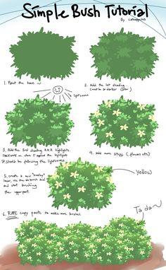 Bush tutorial by catnappe143 on deviantART