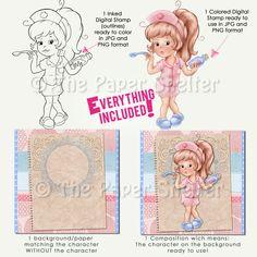 Fofo Enfermeiros - Digi Stamps
