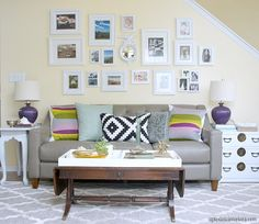 Eight tips for Renters (or for anyone) That won't break the bank! love this gallery wall