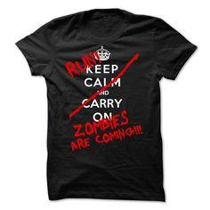RUN Zombies are coming T Shirts, Hoodies, Sweatshirts. CHECK PRICE ==► https://www.sunfrog.com/Zombies/RUN-Zombies-are-coming-66197509-Guys.html?41382