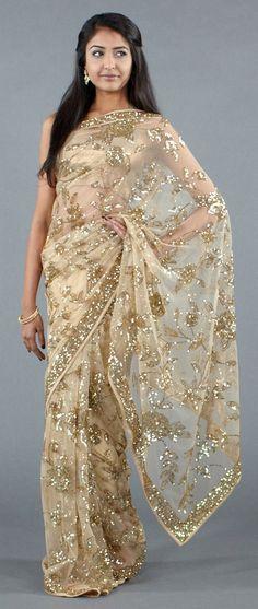 Beautiful Intricate Gold Sari #indian #fashion