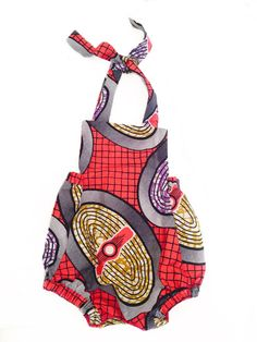 Baby Girl Toddler African Print Romper Headwrap by littlelolabunny