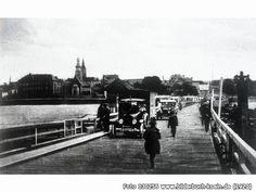 VerkehraufderSchiffbrücke, Mülheimer Brücke, Köln - Mülheim (1920)