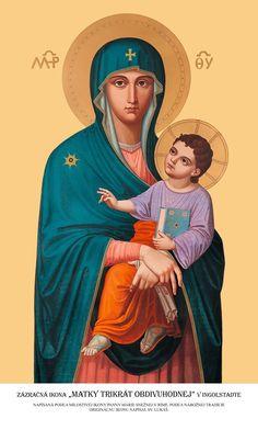 """""""Mater ter admirabilis"""" de la Ingolstadt, sau """"Maică de trei ori Prea Minunată"""". Variantă a Fecioarei """"Salus Populi Romani."""" /-/-/ """"Mater ter admirabilis"""" of Ingolstadt or """"Mother Thrice Admirable."""" A copy of the Virgin """"Salus Populi Romani."""""""