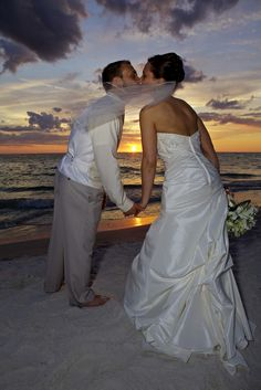 St Pete Beach Photographer, Treasure Island Sunset see more pictures of beach weddings at http://celebrationsoftampabay.com/galleries/artistic/