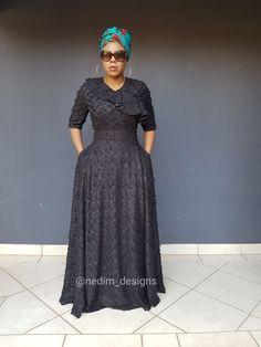 Black Maxi Dresses @nedim_designs +27829652653 African Maxi Dresses, African Attire, African Lace Styles, Black Maxi, Modest Outfits, Stylish Dresses, Lbd, Ankara, Charity