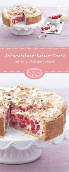 Johannisbeer-Baiser-Torte (Träublestorte) - Ein sommerlicher Klassiker mit roten Johannisbeeren und Baiser #torte #rezept #backen