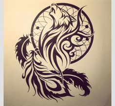 Tribal wolf with a dream catcher....another one maybe hmmmm