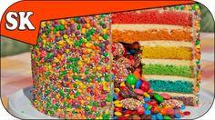 RAINBOW PINATA CAKE - :http://steves-kitchen.com/rainbow-pinata-cake/