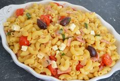  This is another recipe from one of my aunts (Teta Marica). I really love the flavours of this dish. Now I have put this dish in the lunch category, as it is lovely served hot with a salad on the. Bacon Pasta, Lunch Ideas, Pasta Salad, Macaroni And Cheese, Dishes, Ethnic Recipes, Hot, Crab Pasta Salad, Plate