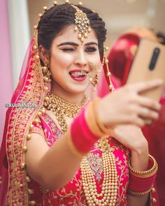 Make-up by UV Ghai Pc . Indian Bride Photography Poses, Indian Bride Poses, Indian Wedding Poses, Indian Bridal Photos, Indian Wedding Makeup, Wedding Couple Poses Photography, Bridal Photography, Poses Pour Photoshoot, Bridal Photoshoot
