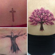 7. Já esta transformou uma cruz sem graça em uma árvore colorida