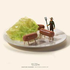 """. 10.23 fri """"Today's breakfast"""" . 本日の朝食。 . . #食べるのが忍びない #このあとおいしくいただきました #豚 #Porkpig #朝食 #Breakfast ."""