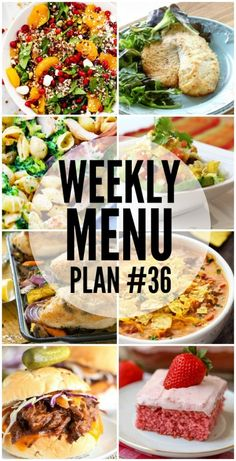 Weekly Menu Plan #36