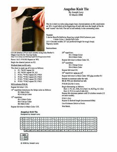 Angelus Knit Tie Pattern by knotwhatyouthink, via Flickr