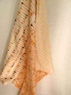 Baby Blanket arrows and triangles beautiful minky newborn shower gift by whitewillowkids