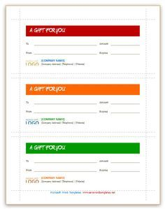 3 per pages gift certificate templates gift certificate template