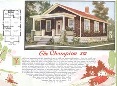 "Aladdin Kit Home, ""The Champion,"" 1920"