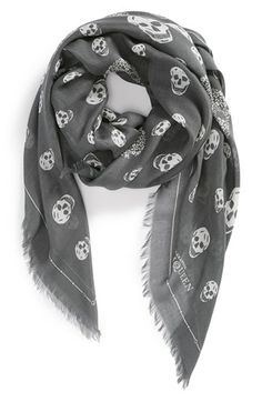 Alexander McQueen 'Enamel Graphic Skull' Scarf - always wanted one of these